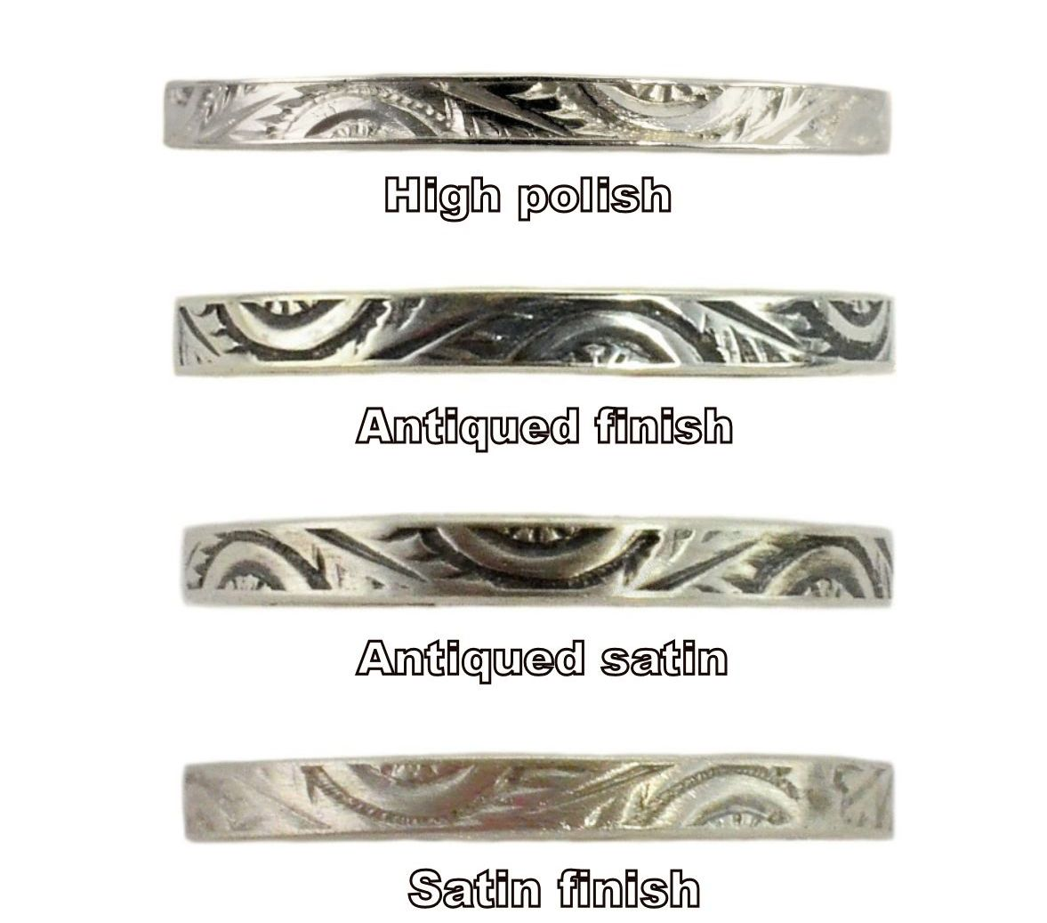 Finish sample - different pattern shown