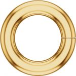 18k Gold Round 2.0mm Jump Ring, Light Weight