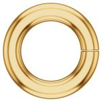 18k Gold Round Jump Ring, Light Weight